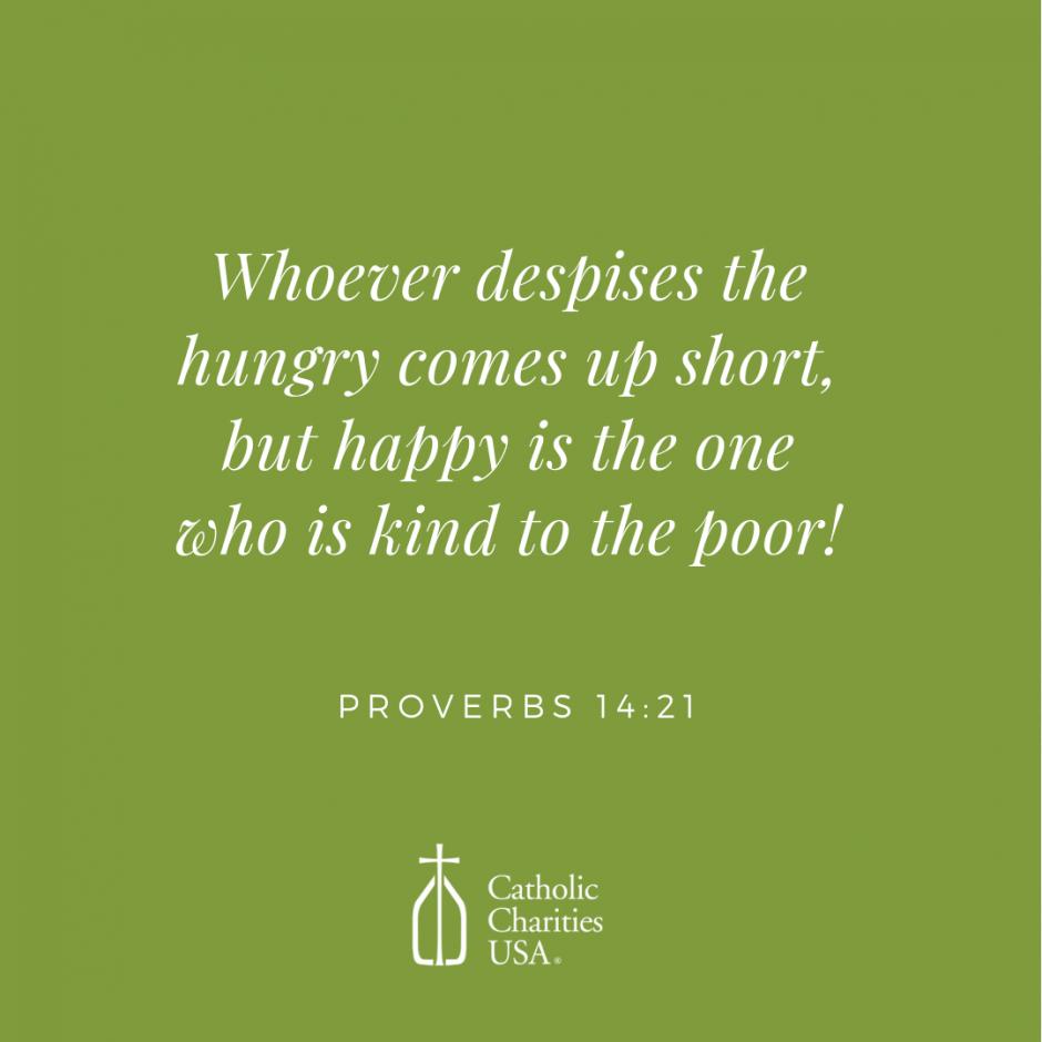 2018 World Day of the Poor - Catholic Charities USA
