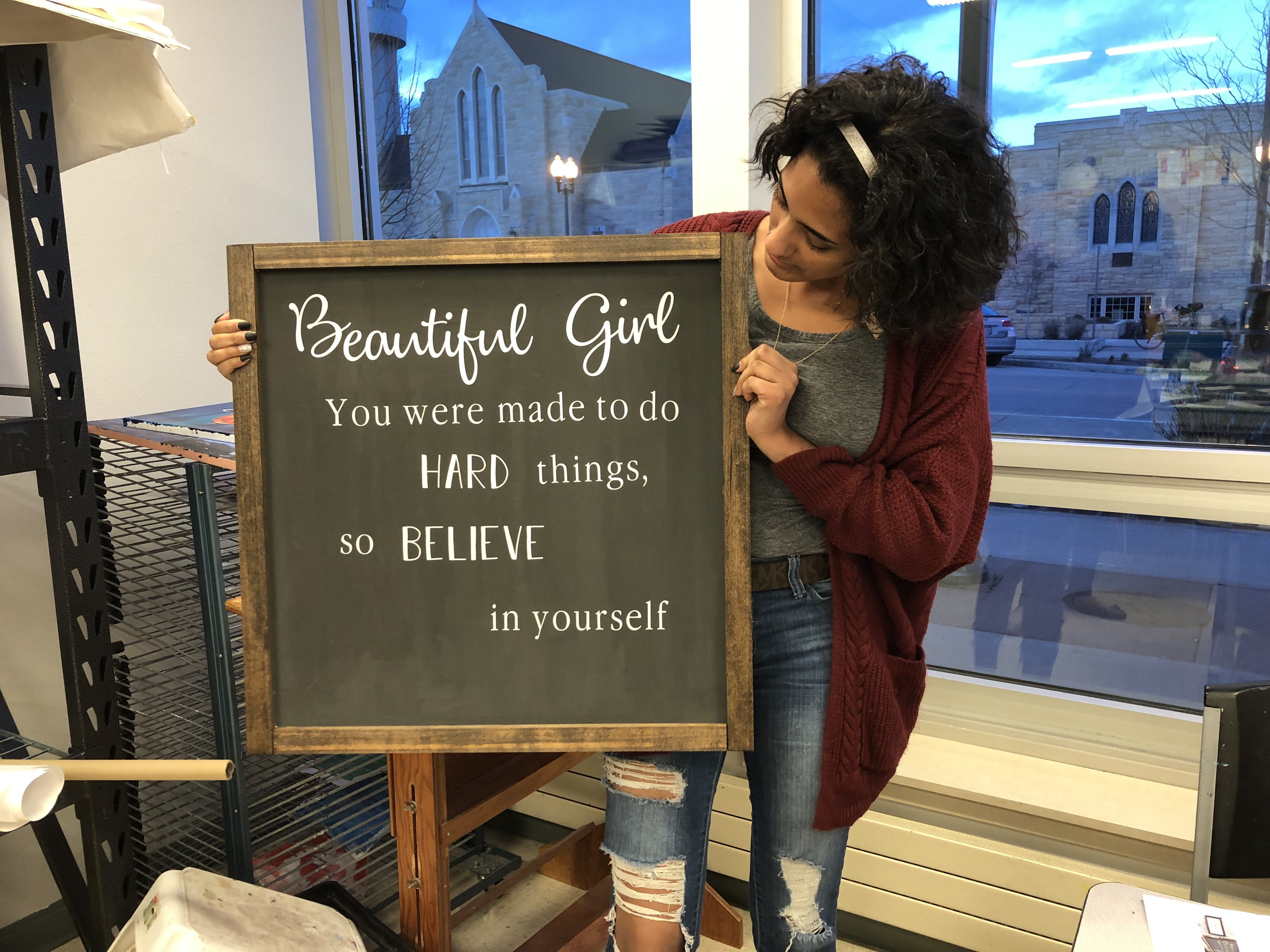 Beautiful Girl You Were Made To Do Hard Things Catholic